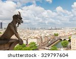 gargoyle of paris on notre dame ...
