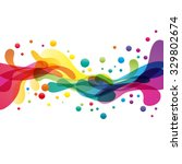 Colored splashes in abstract shape | Shutterstock vector #329802674