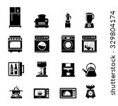 kitchen appliances icons | Shutterstock .eps vector #329804174