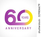 60 years old celebrating... | Shutterstock .eps vector #329806679