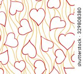 romantic seamless pattern. hand ... | Shutterstock .eps vector #329808380