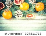 christmas decoration on...   Shutterstock . vector #329811713