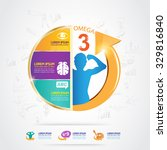 kids omega and vitamin calcium... | Shutterstock .eps vector #329816840