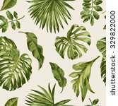 seamless exotic pattern with... | Shutterstock .eps vector #329822000