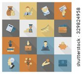 business and finance  flat icon ... | Shutterstock .eps vector #329824958