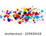 Colored Blots Cmyk. Raster...