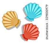 Cartoon Vector Icon Seashells