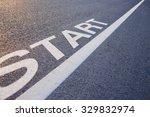 Closeup Photo Of Start Line On...