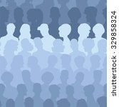 seamless pattern of people... | Shutterstock .eps vector #329858324