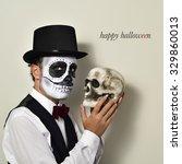 A Man With Mexican Calaveras...