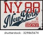 new york sports t shirt graphic  | Shutterstock .eps vector #329865674