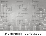 drawing modern electronic... | Shutterstock .eps vector #329866880