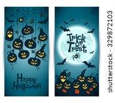 halloween background of... | Shutterstock .eps vector #329872103