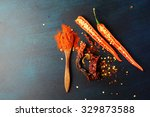 three versions of red pepper  ... | Shutterstock . vector #329873588