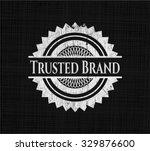 trusted brand chalkboard emblem ...   Shutterstock .eps vector #329876600