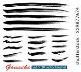 set of vector grunge brushes... | Shutterstock .eps vector #329877674