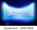 big led screen. vector...