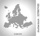 map of europe | Shutterstock .eps vector #329887430