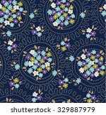 trendy seamless floral pattern...   Shutterstock .eps vector #329887979