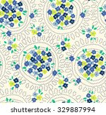 trendy seamless floral pattern... | Shutterstock .eps vector #329887994