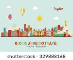 rio de janeiro detailed skyline.... | Shutterstock .eps vector #329888168