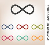 limitless symbol icon set | Shutterstock . vector #329895818