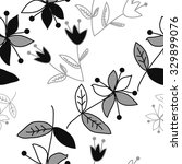 seamless   pattern  with floral ... | Shutterstock .eps vector #329899076