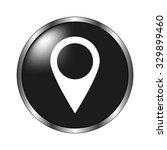 map pointer icon   vector button