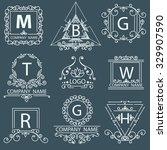set company victorian logos....   Shutterstock .eps vector #329907590