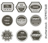 set vintage quality mark  sale  ... | Shutterstock .eps vector #329907668
