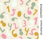 numbers simple seamless pattern.... | Shutterstock .eps vector #329909018