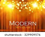 shining spotlights on stage... | Shutterstock .eps vector #329909576