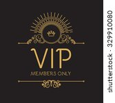 vip zone. members premium... | Shutterstock .eps vector #329910080
