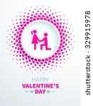 colorful valentines day card... | Shutterstock .eps vector #329915978