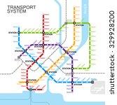 metro or subway map design... | Shutterstock .eps vector #329928200