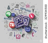 images and collage with web... | Shutterstock .eps vector #329934500