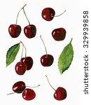 watercolor cherries set... | Shutterstock . vector #329939858