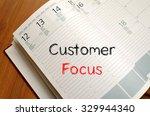customer focus text concept... | Shutterstock . vector #329944340
