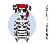 dalmatian doggy pirate ... | Shutterstock .eps vector #329945843