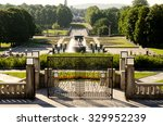 Overview on Frogner Park in Oslo Norway