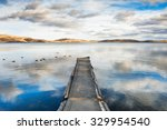 Old Pier On The Lake  A...