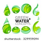 set of abstract eco water icons ... | Shutterstock . vector #329959094
