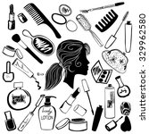 cosmetics and beauty products... | Shutterstock . vector #329962580
