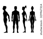 collection of silhouettes of... | Shutterstock . vector #329967314