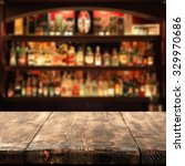 Stock photo wooden table place bar and space for you 329970686