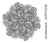 round element for coloring book.... | Shutterstock .eps vector #329971238