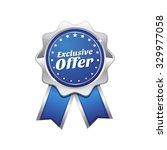 exclusive offer blue vector... | Shutterstock .eps vector #329977058