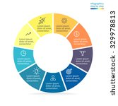 infographics  pie chart  graph  ... | Shutterstock .eps vector #329978813