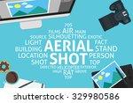 vector aerial shot concept... | Shutterstock .eps vector #329980586