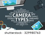 vector camera types concept... | Shutterstock .eps vector #329980763